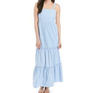 New Crown & Ivy strip Tiered Maxi Dress XL
